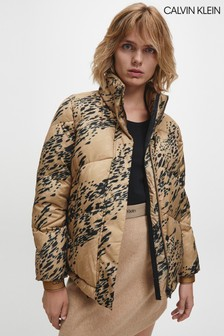 Calvin Klein All Over Print Padded Jacket
