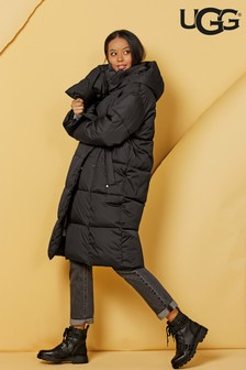 UGG® Black Catherina Long Line Padded Coat