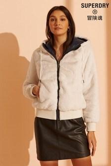 Superdry Storm Premium Faux Fur Jacket