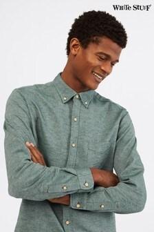 White Stuff Green Ainsdale Cotton Linen Shirt