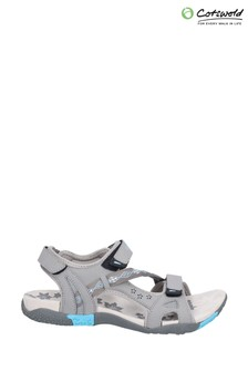 Cotswold Grey Whichford Touch Fastening Sandals