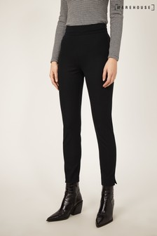 Warehouse Black Bengaline Skinny Trousers
