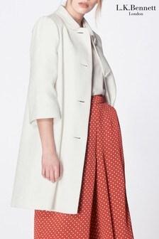 L.K.Bennett White Minnie Cotton Coat