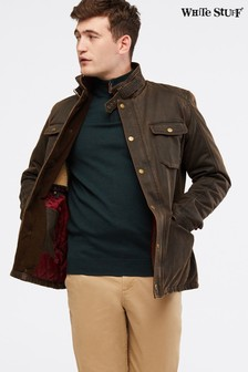 White Stuff Brown Derwent Waxed 4 Pocket Jacket