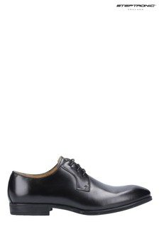 Steptronic Black Faro Oxford Lace-Up Shoes