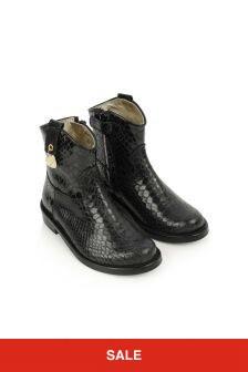 Monnalisa Girls Faux Python Boots