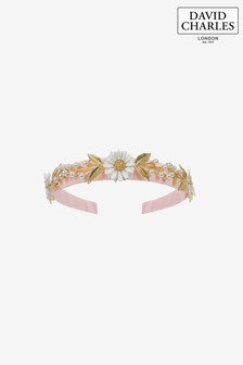 David Charles Pink Daisies Hairband