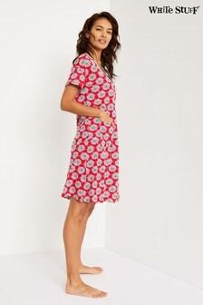 White Stuff Red Sea Lily Jersey Dress