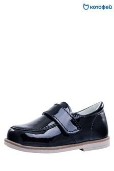 Kotofey Black Loafer Shoes