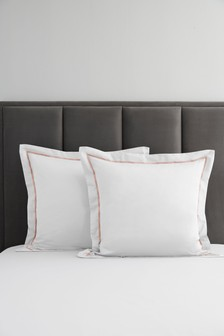 2 Pack 600 Thread Count Cotton Square Pillowcases