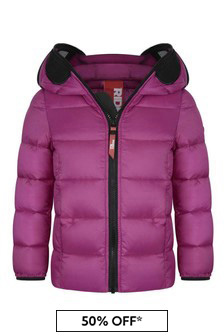 Violet Down Padded Jacket With Lenses