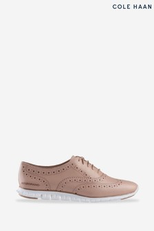 Cole Haan Pink Zerogrand Wing Oxford Closed Hole Lace-Up Shoes