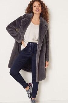 Long Faux Fur Coat