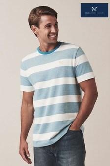 Crew Clothing Blue Oxford Stripe T-Shirt