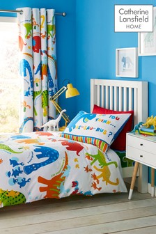 Dino-Saw Easy Care Duvet Cover and Pillowcase Set by Catherine Lansfield