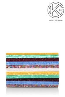 Kurt Geiger London Party Envelope Green Evening Bag