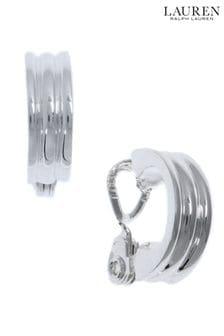 Lauren by Ralph Lauren Rippled Hoop Clip-On Huggie Earrings