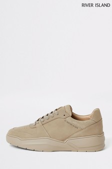 River Island Stone Colour Drench Chunky Trainers