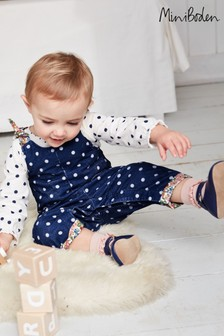 Boden Blue Woven Dungarees