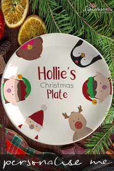 Personalised Characters Christmas Plate by Signature PG