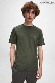 Calvin Klein Green Chest Logo T-Shirt