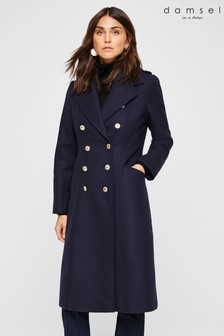 Damsel In A Dress Blue Lexine Coat