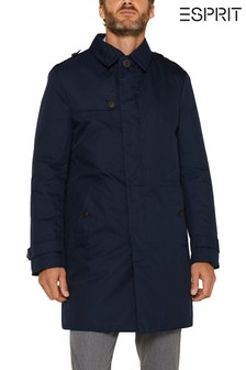 Esprit Blue Padded Trench Coat