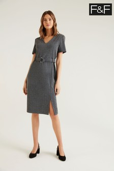 F&F Texture D Ring Workwear Dress