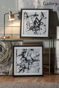 Monochrome Abstract Set of 2 Wall Art by Gallery Direct