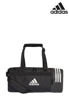 Черная спортивная сумка с 3 полосками adidas