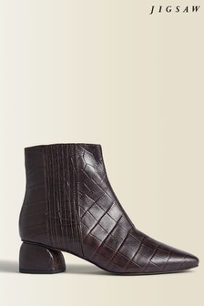 Jigsaw Brown Asher Leather Ankle Boots