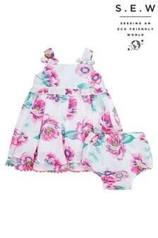 Monsoon Cream S.E.W. New Born Baby Seraphine Dress