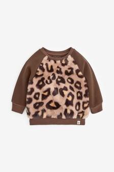Animal Faux Fur Sweatshirt (3mths-7yrs)