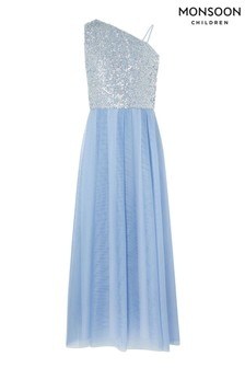 Monsoon Blue Eilish Prom Dress