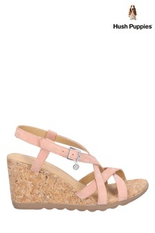 Hush Puppies Orange Pekingese Strappy Buckle Sandals