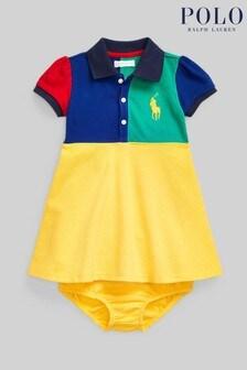 Ralph Lauren Multicoloured Colourblock Logo Polo Dress