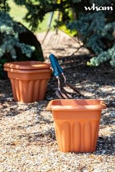 Set of 3 Vista 25cm Square Garden Planters by Wham