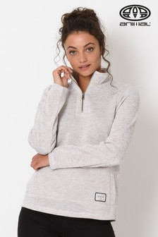 Animal Grey Trecker Fleece Funnel Neck