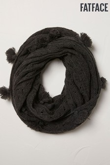 FatFace Grey Pointelle Knitted Snood