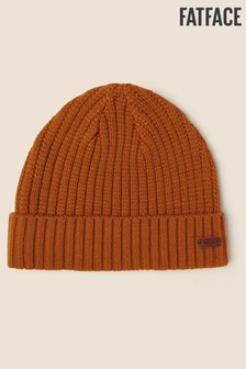 FatFace Yellow Plain Beanie