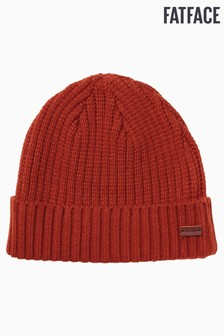 FatFace Orange Plain Beanie