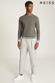 Reiss Handsome Tipped Crew Neck Jumper