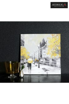 Ochre London Couple Canvas by Arthouse