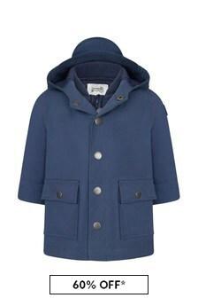 Bonpoint Baby Boys Blue Cotton Jacket