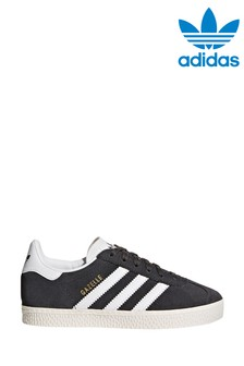 adidas Originals Grey/White Gazelle Junior Trainers