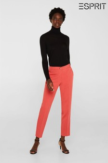 Esprit Orange Stretch Chino Trousers