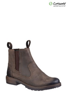Cotswold Brown Laverton Slip On Ankle Boots
