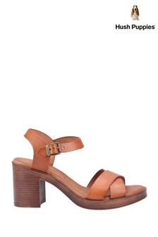 Hush Puppies Brown Georgia Heeled Sandals