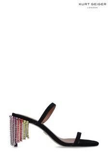 Kurt Geiger London Black Petra Rainbow Sandals