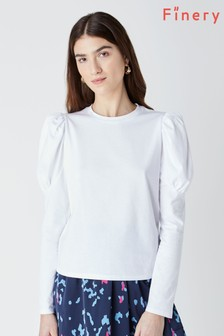 Finery Hallie Long Puff Sleeve Top